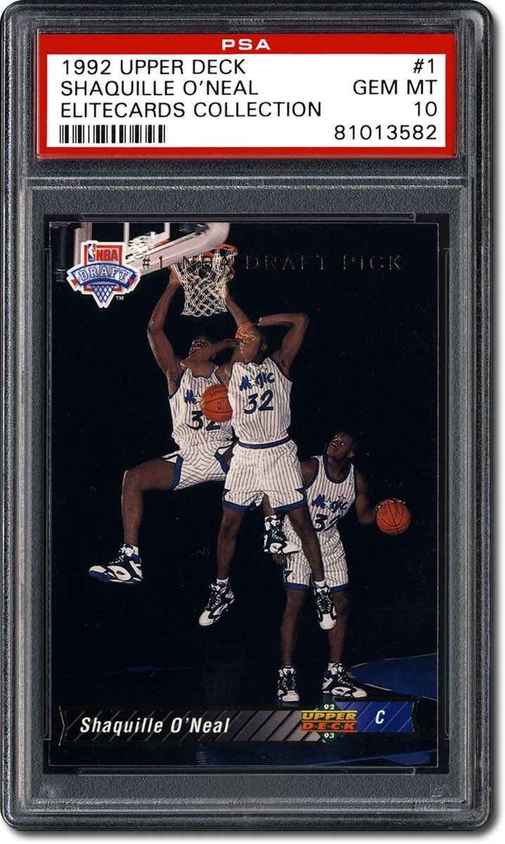 #FlashbackFriday to when #Shaq was slam dunking on defenders instead of rival pizza chains. Here's the big man's rookie card.