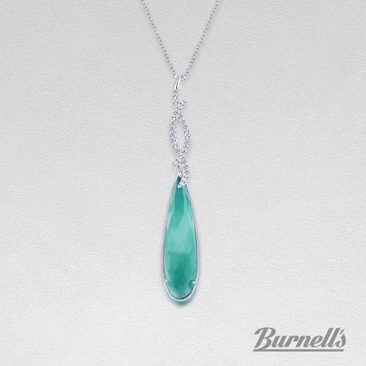 Be bold and confident in this Gabriel & Co. Green Onyx and Diamond pendant! http://bit.ly/2S6tXh3   #BurnellsFineJewelry #WichitaJewelers #GabrielandCo #DiamondPendant https://ift.tt/1Bvvodk