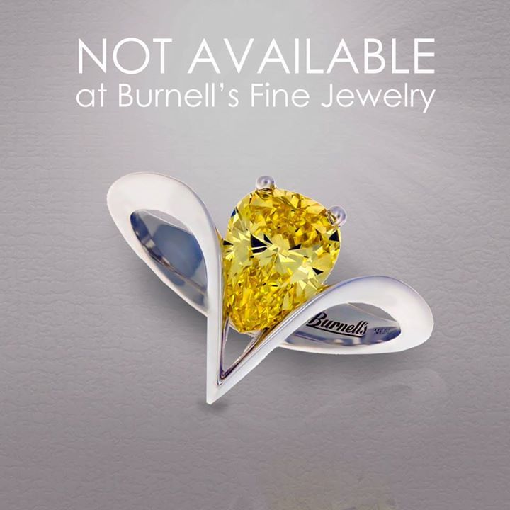 You can't buy this flawless, natural intense yellow pear-shaped diamond ring at Burnell's Fine Jewelry.   That's because it was made exclusively for Sandy C. Her husband had been looking to find the perfect ring to re-pop the question. He wanted a simple… https://ift.tt/1Bvvodk