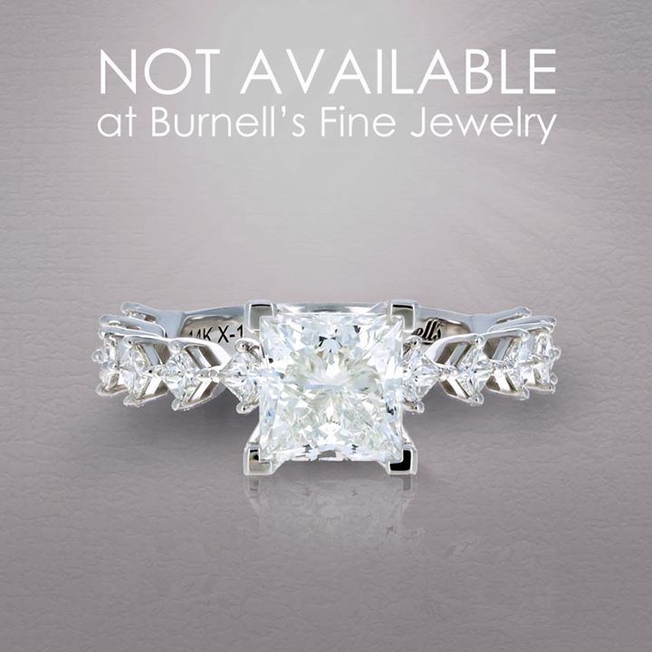 You can't buy this stunning ring at Burnell's Fine Jewelry.   That's because it was made exclusively for Darrylyn.  She wanted the design to be dainty yet ornate. We created a ring for her with princess cut diamonds accented with kite set side stones, an… https://ift.tt/1Bvvodk