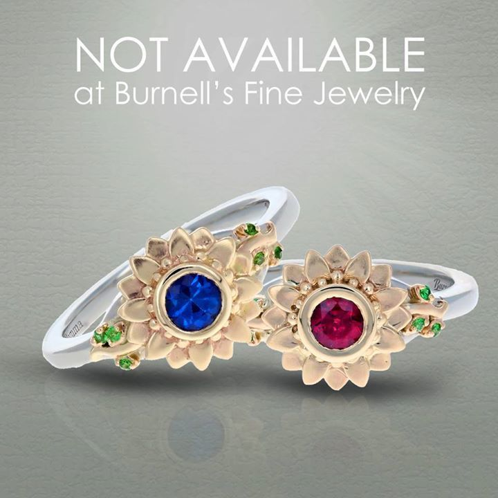 You can't buy these sapphire and garnet sunflower rings with tsavorite accents at Burnell's Fine Jewelry.  That's because they were made exclusively for Tim's daughter and his wife, Beth. They were ecstatic when they received them!   Find out what we can… https://ift.tt/1Bvvodk