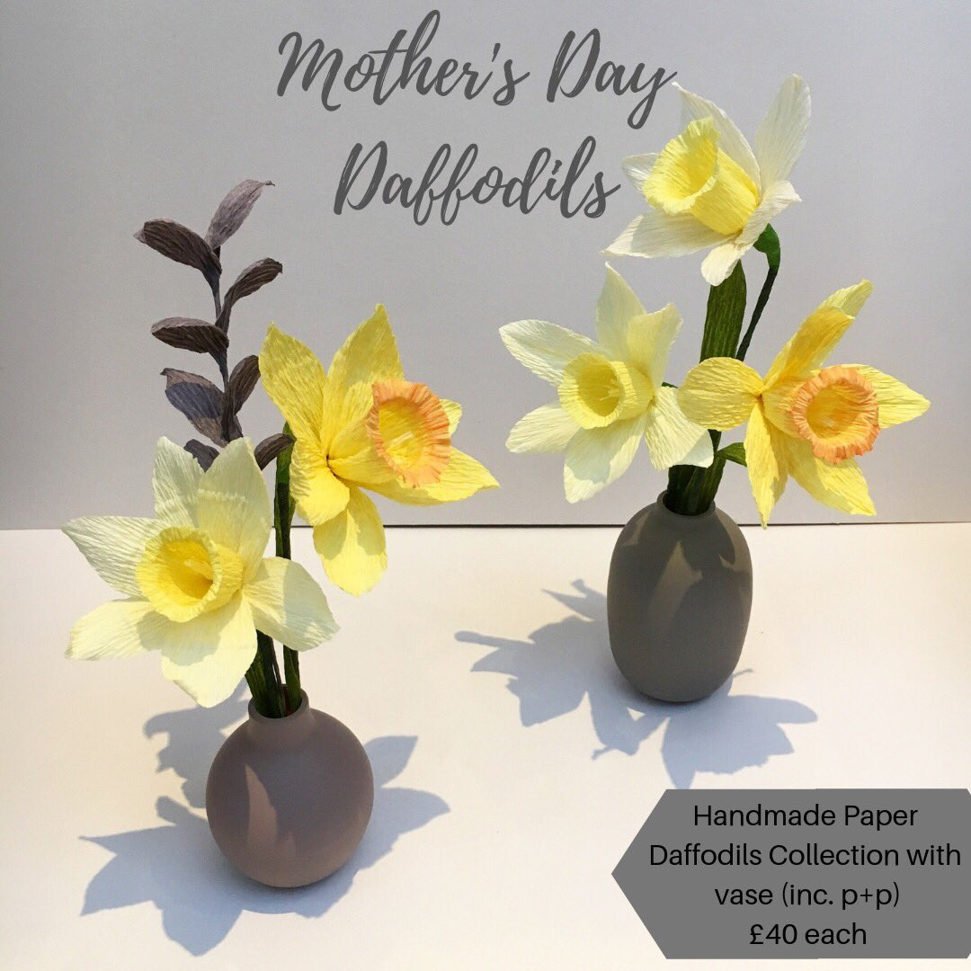 Get in touch for your Mother's Day Paper flower orders (last order date 27th March) #chichester #paperflowers #MothersDaygifts<br>http://pic.twitter.com/cYnq7auV3N