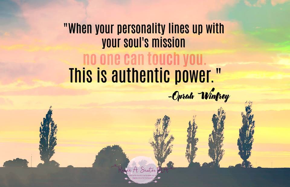 When your personality lines up with your soul's mission, no one can touch you. This is authentic power. Oprah Winfrey #quote
