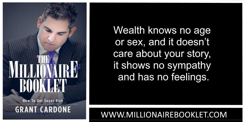 Wealth knows no age... @grantcardone #entrepreneur #quote SEE MORE --> http://bit.ly/MillionaireBooklet1…