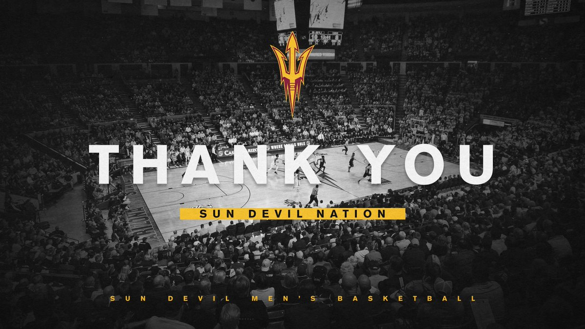 Not the result we wanted but we are extremely proud of the season we had. A huge thank you to #SunDevilNation for their continuous support all year!  Next season starts now. #ForksUp🔱