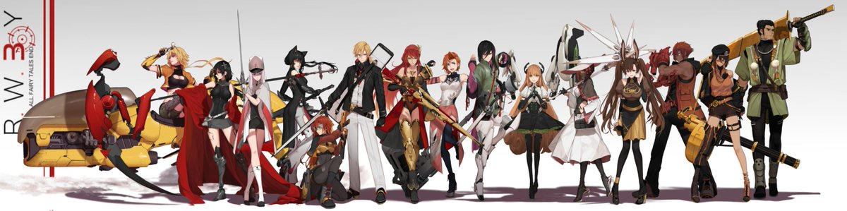 And huzzah , the new banner is up for RWBY 3.0   Full glorious 14000 pixels , along with separated versions for team RWBY, JNPR and CFVY are now up on my Patreon , along with the HD of the grid version down below :    https://www. patreon.com/Dishwasher1910  &nbsp;  <br>http://pic.twitter.com/GORaX7EjlQ
