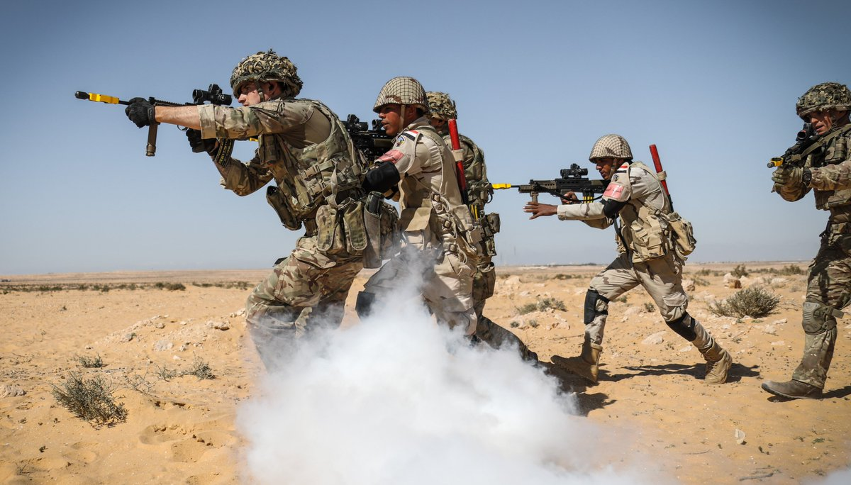 In the heat and dust of the Egyptian desert 🏜 @RoyalAnglians are on exercise with the Egyptian 112 Infantry Brigade. Watch the video to get a feel for their training: http://ow.ly/Ca2150nHSUu