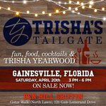 Image for the Tweet beginning: Announcing #TrishasTailgate Gainesville!   Join Trisha