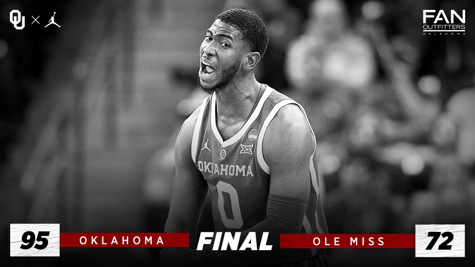 Win and advance! #Sooners dominate Ole Miss 95-72 to move on to the Second Round. #MarchMadness    Recap 🔗 http://bit.ly/2uoh605