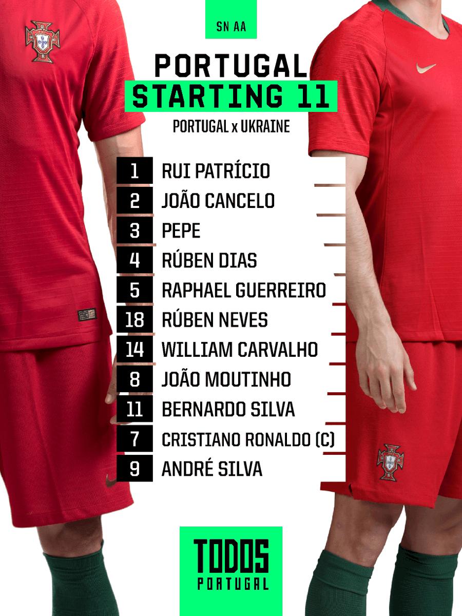 Já temos 11 para o jogo de hoje! Força, rapazes! 🇵🇹 #TodosPortugal