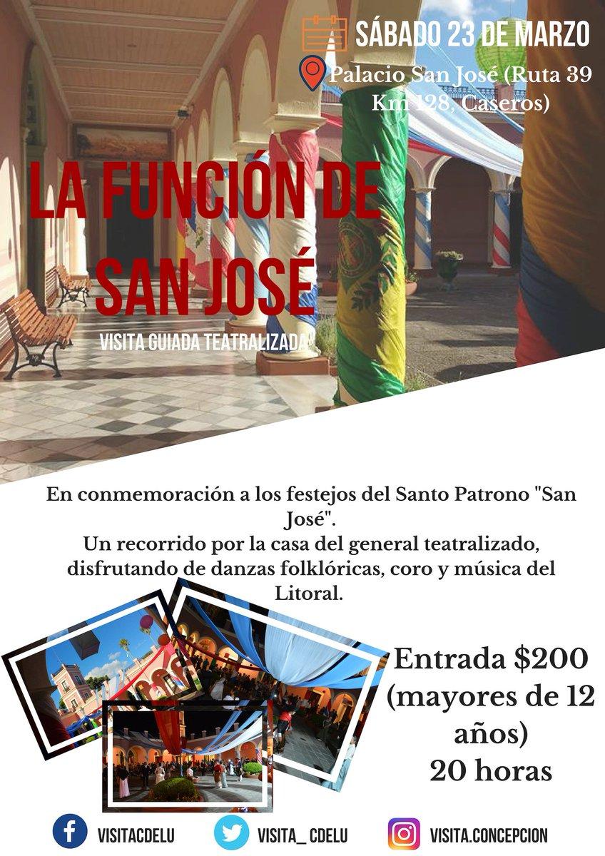 Sábado 23 #LaFunciónDeSanJosé 💂♀️en Palacio San José  ¡No te lo pierdas!  Te esperamos #visitáConcepción 🏙