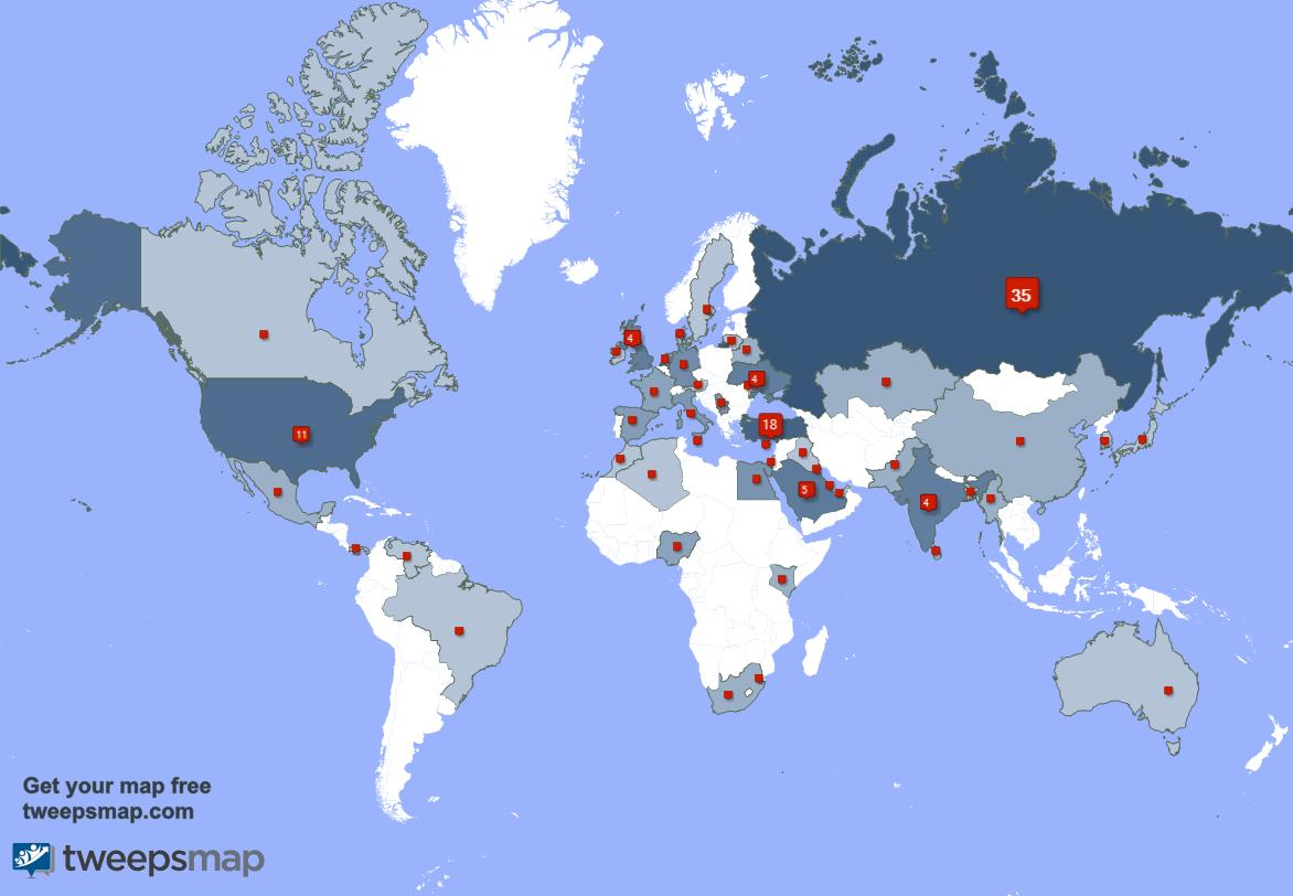I have 24 new followers from Russia, and more last week. See  http:// tweepsmap.com/!AlexZach123  &nbsp;  <br>http://pic.twitter.com/hRVbh2qX3C