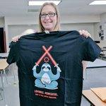 Image for the Tweet beginning: Congrats to Charlene Barber, teacher