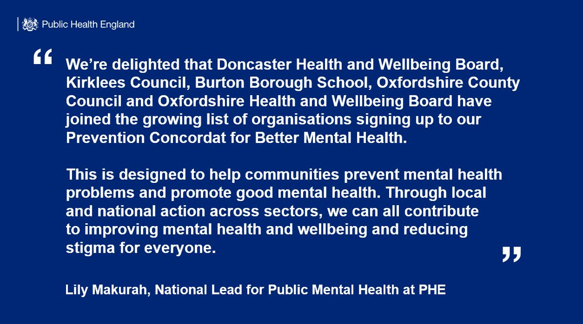 Absolutely thrilled that @BurtonBorough is the first school in the country to be a signatory for the Prevention Concordat for Better Mental Health and recognised for the work we do by Public Health England @PHE_uk !Well done to @bbswellbeing Mrs Heins in particular! #mentalhealth