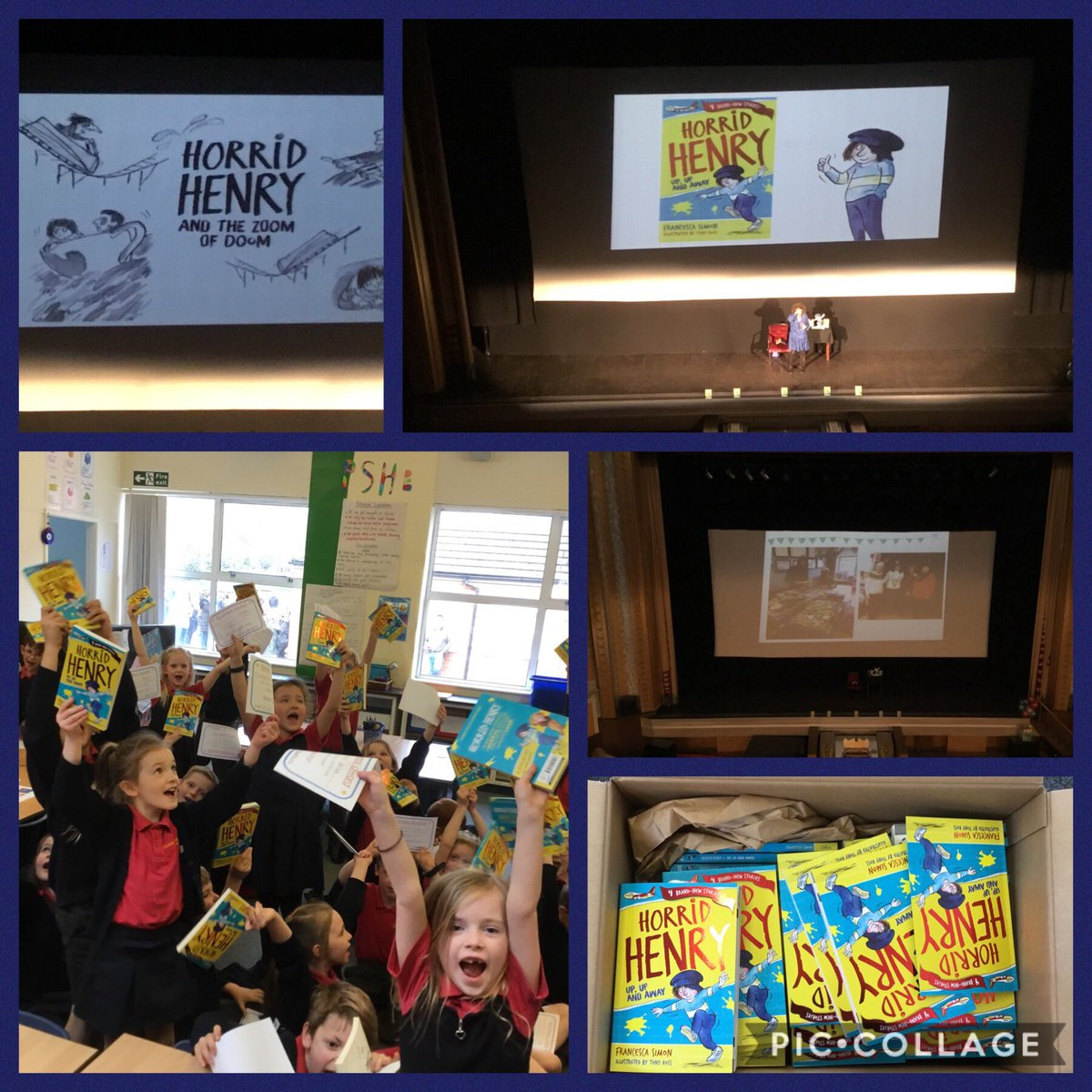 test Twitter Media - Wow what an exciting day! Not only did we get to listen to Francesca Simon read a story from her brand new Horrid Henry book but we also got a signed copy too! We are all feeling very inspired to write some of our own stories! #gorseyenglish #gorseybookclub 📚 https://t.co/dRXHevCbYG