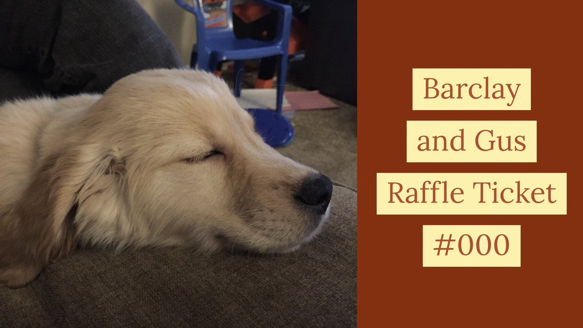 """The Big Barclay &amp; Gus Magnet Raffle is back! We have tons of magnets made for it. This raffle is sponsored by our friends @StarlightBarke1. Make sure you follow them and visit their page for your dog treat needs! Comment with """"I want a ticket"""" to enter. Prizes all weekend long!<br>http://pic.twitter.com/Z4xnh4qppo"""