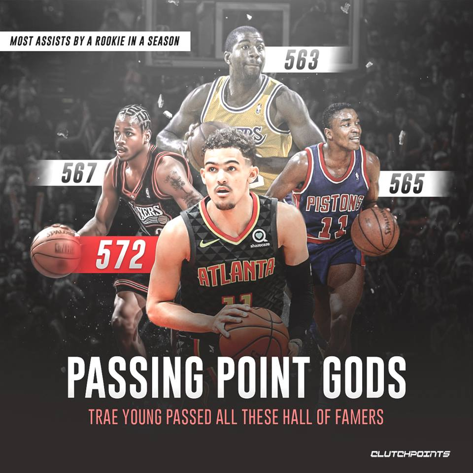 Another day, another legend passed for Trae Young 👀  #hawks