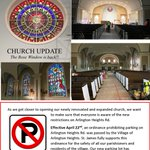 Image for the Tweet beginning: St James Church renovation pictures