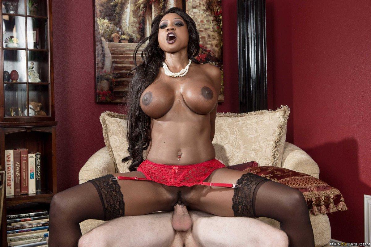Ebony and ivory, anal threesome