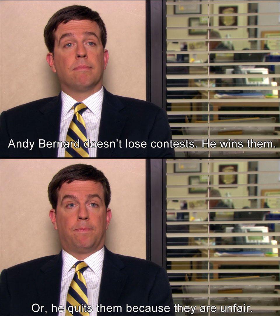 #TheOffice Andy <br>http://pic.twitter.com/LPjsSfTbBK
