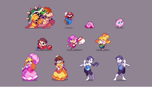 a handful of smash characters I made while waiting for ultimate to release <br>http://pic.twitter.com/xiRH56Spk8