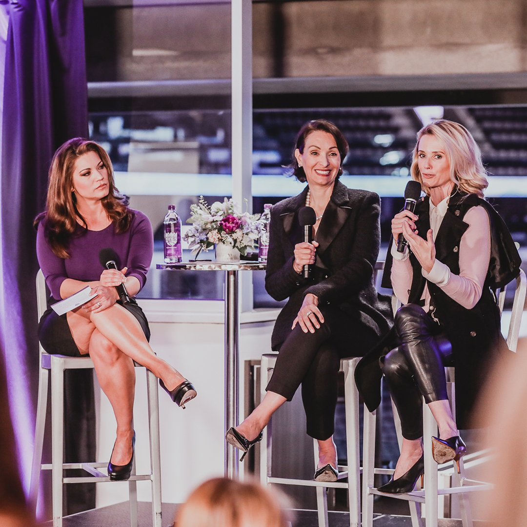 Prior to Women of Inspiration Night, Kings COO @MatinaKings & California's First Partner @JenSiebelNewsom hosted female professionals for Coffee & Conversation at @Golden1Center ☕️💜