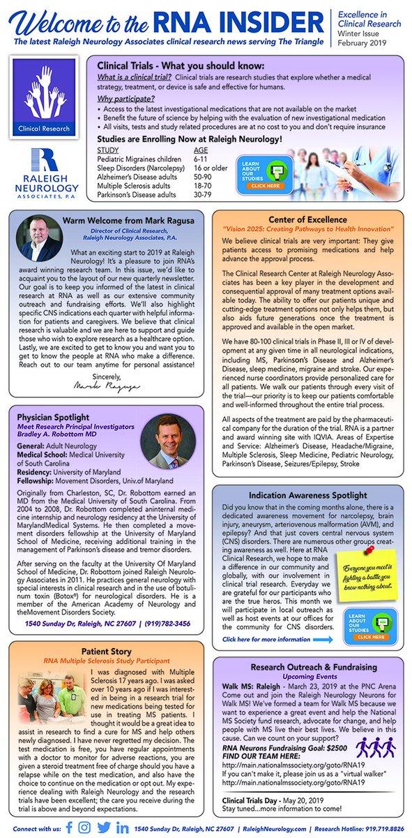 Raleigh Neurology Associates Clinical Research