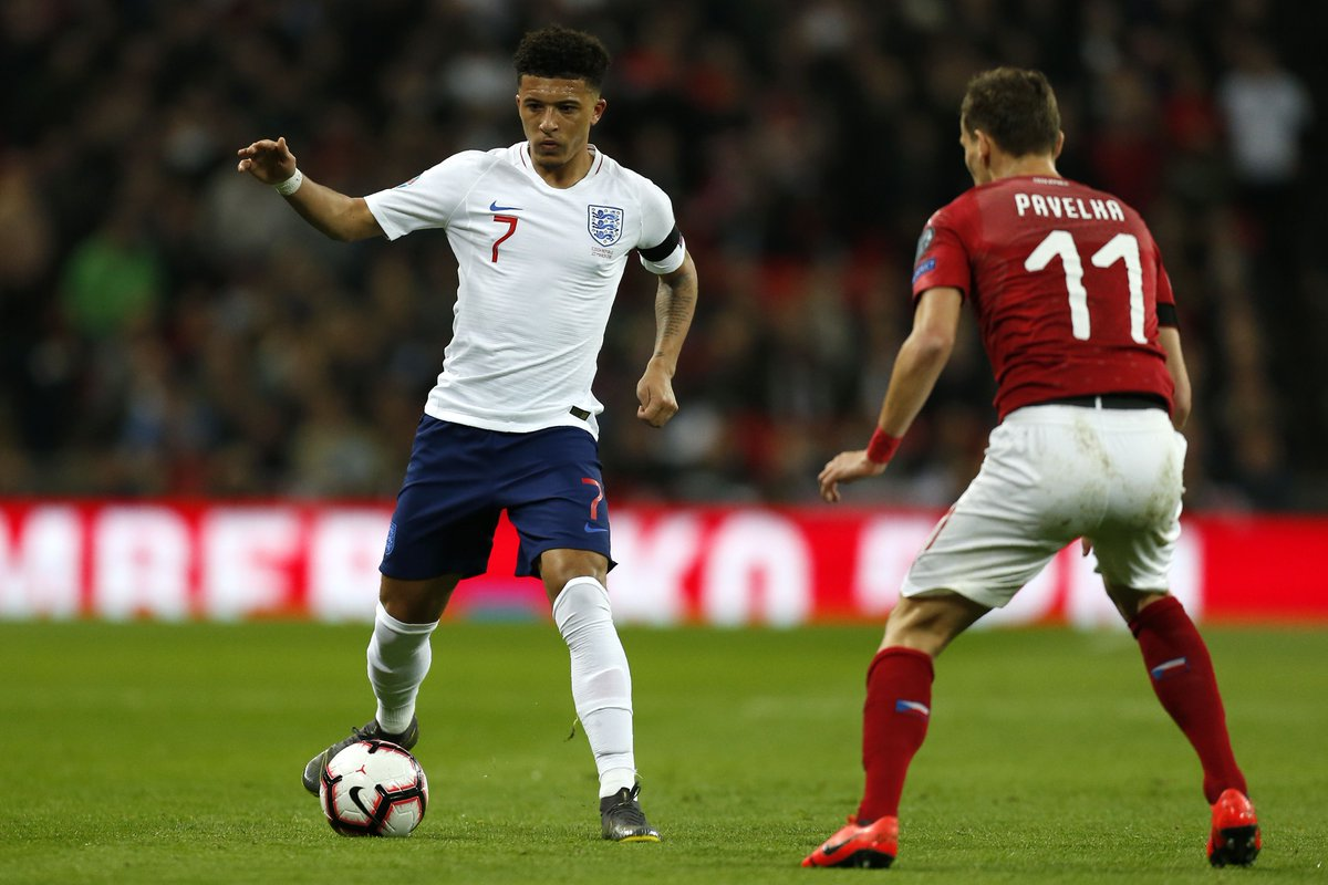 Jadon Sancho was the first Englishman to reach 10 assists in Europe's top five leagues this season.  Providing assists is what he does and this is just the beginning.   #ENG #ENGCZE  ⚽🏴🇨🇿