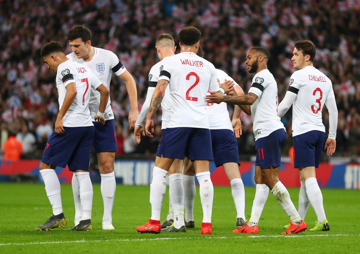 Half time from Wembley Stadium: England 2 - 0 Czech Republic. #ENG #ENGCZE  ⚽🏴🇨🇿