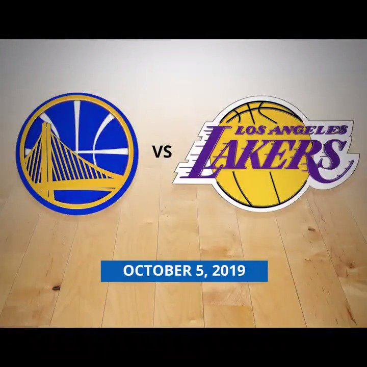 Warriors first preseason game at Chase Center will be against the Lakers