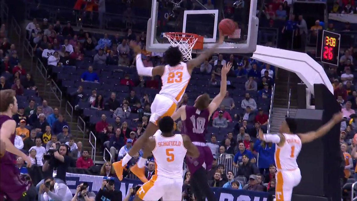 JB with the Block!!  (Via @marchmadness, @Vol_Hoops)