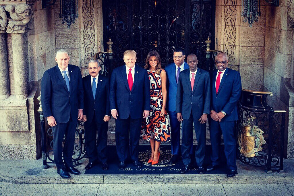 Enjoyed hosting the leaders &amp; their delegations from the Bahamas, Dominican Republic, Haiti, Jamaica, and Saint Lucia with @POTUS at Mar-a-Lago today.<br>http://pic.twitter.com/JgWFWe5wJk