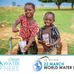 Image for the Tweet beginning: It's #WorldWaterDay. Clean water is