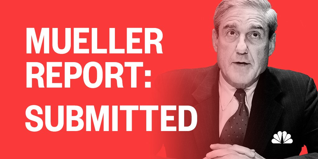 BREAKING: Special Counsel Mueller has submitted his report to Attorney General Barr. https://t.co/kdrUxk2XiK https://t.co/UUIfoAeUSR