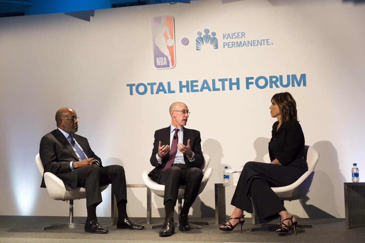 Great conversation yesterday with @BernardJTyson and @NBAAdamSilver discussing change at the leadership level. Thank you @KPShare for this important discussion and your commitment to mental health.    #TotalHealthForum #resilience #partner