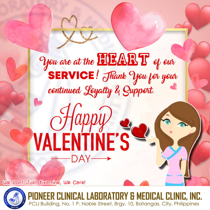 We have nothing but GRATEFULNESS in our hearts.   Stay Fit & Healthy, this Valentine's Day! <3  #PioneerClinicalLaboratoryandMedicalClinicInc #PCLMCI #PioneerLabPH #HappyValentinesDay http://www.facebook.com/pages/p/155213787870486…