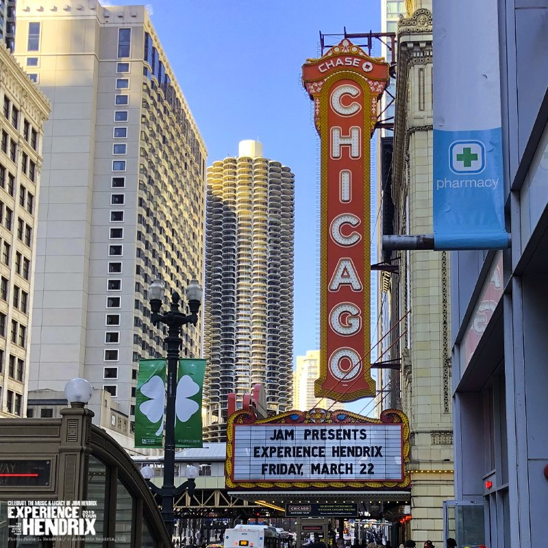 Sweet home #Chicago Don't missing tonight's performance of the 2019 Experience Hendrix Tour at the historic @ChicagoTheatre  Learn more about this all-star concert experience and order tickets at http://experiencehendrixtour.com/  #HendrixTour #JimiHendrix #AllStar #Concert #Event #Tonight
