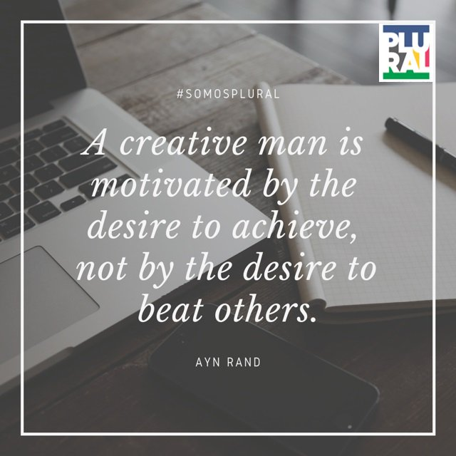 A creative man is motivated by the desire to achieve, not by the desire to beat others. Ayn Rand  #FelizFinde <br>http://pic.twitter.com/XLGYnGCpXk
