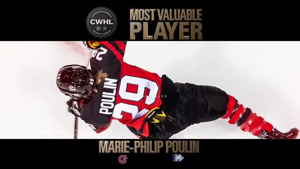 Congrats @pou29 on being awarded @TheCWHL MVP! 🏆🙌
