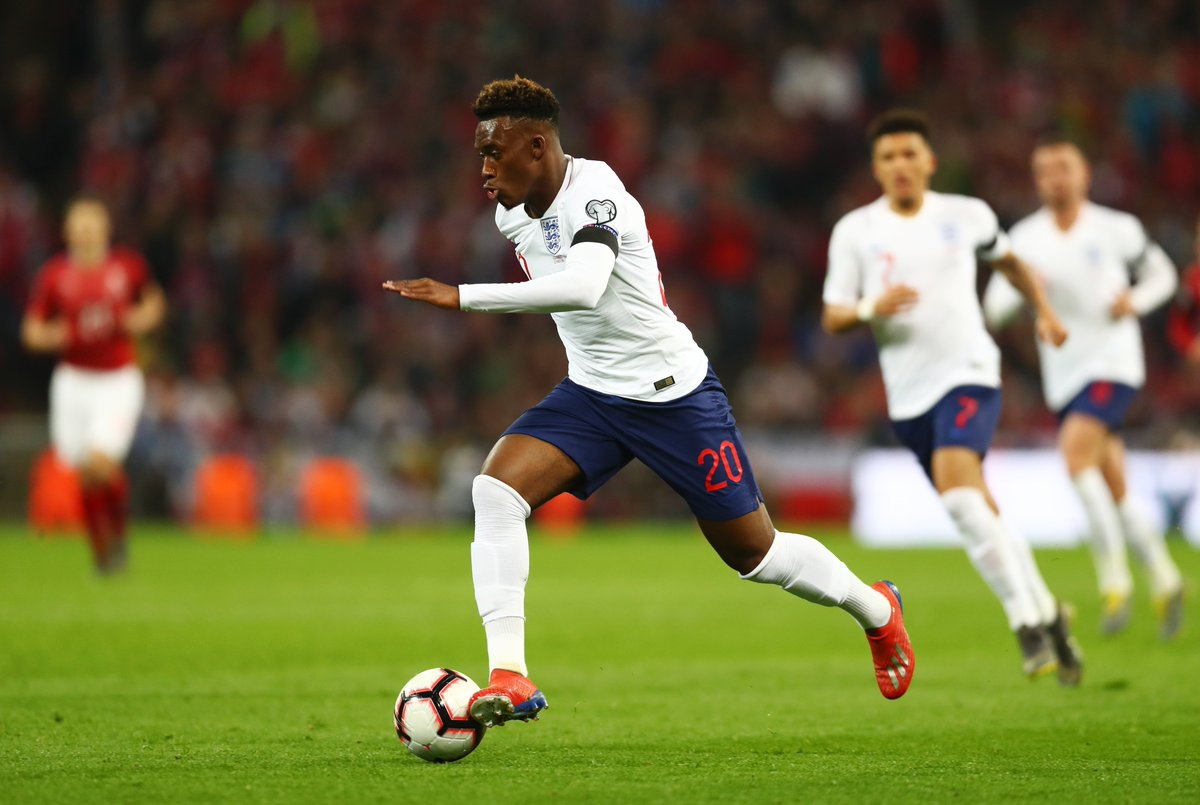 Callum Hudson-Odoi is the youngest England player (18 years, 135 days) in the history of the national team to win his first cap in a competitive match.  #ENG #ENGCZE ⚽🏴