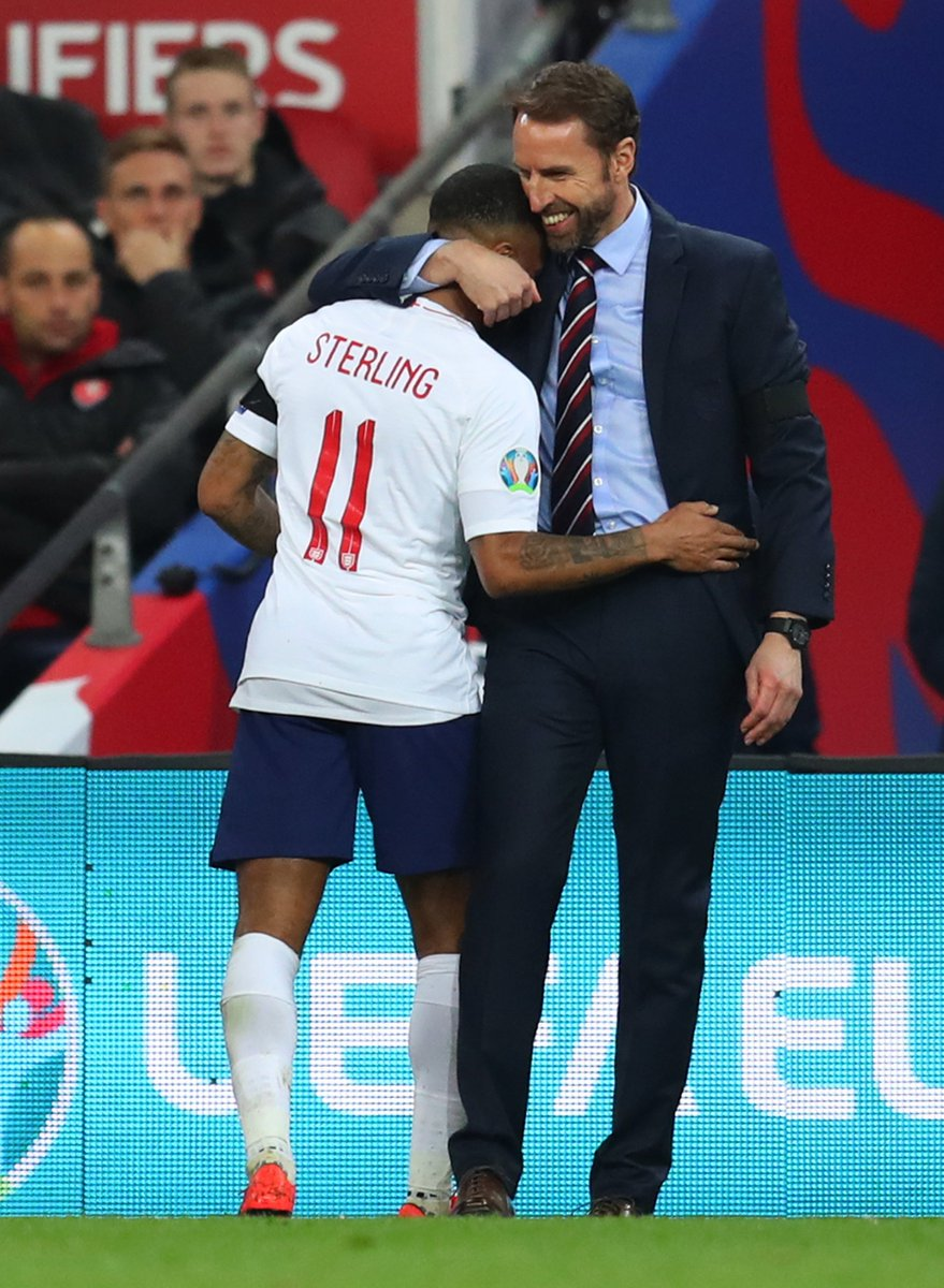 England are now unbeaten in their last 19 European qualifying matches (W16 D3), winning the last 11 in a row.  #ENG ⚽🏴