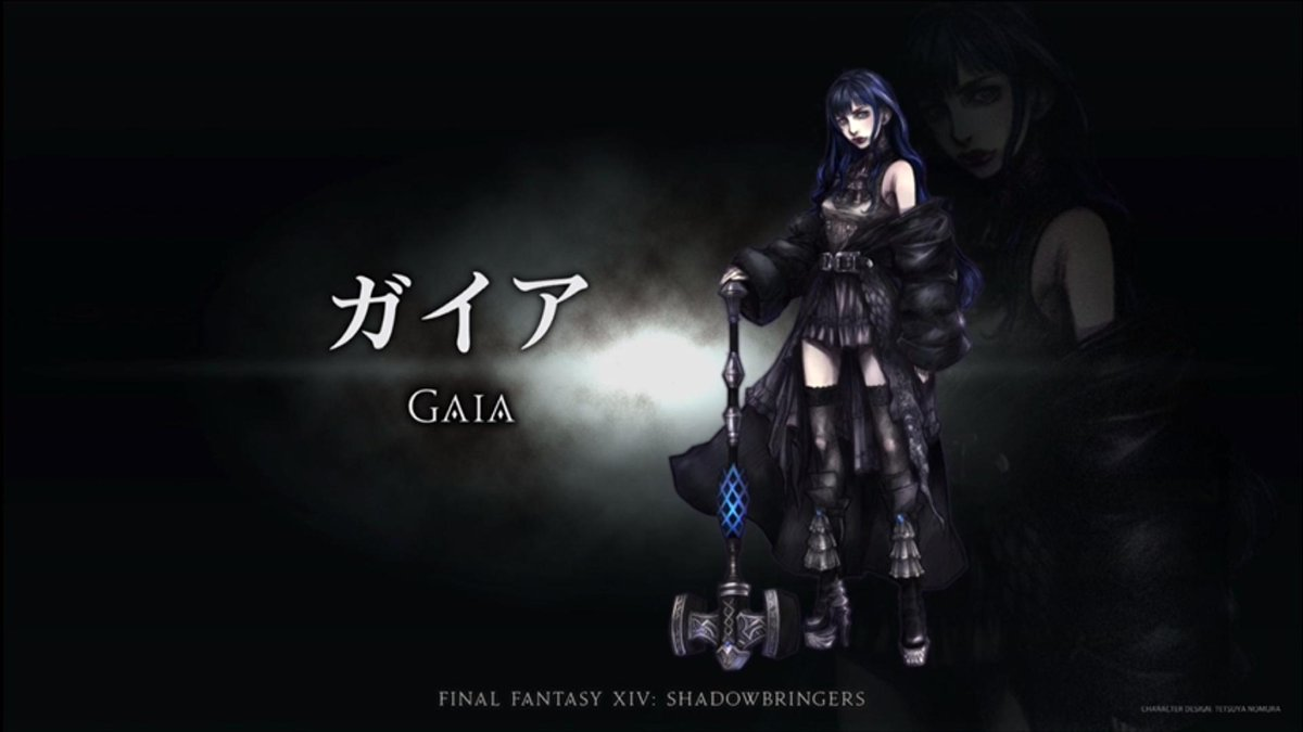 Coming in as a guest designer for Eden is a special character and monster designer, Tetsuya Normura.   This is one of the lead characters, Gaia. #FFXIV<br>http://pic.twitter.com/DeMnEg8yLh