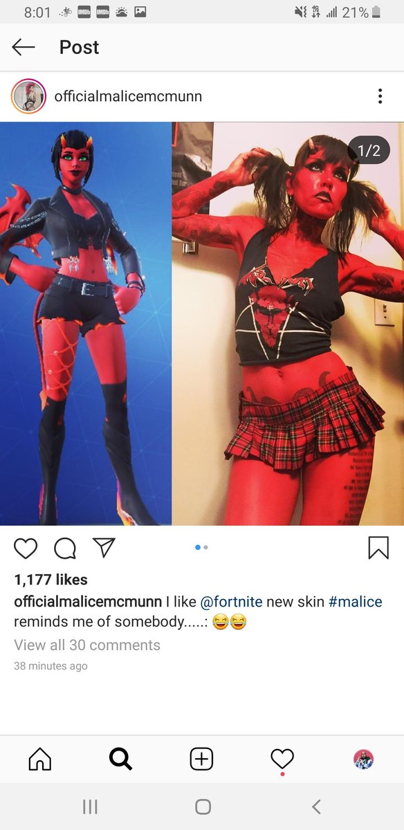 If @FortniteGame isn't paying money to Malice for literally stealing her name and body... there is going to be hell to pay #MaliceSkin
