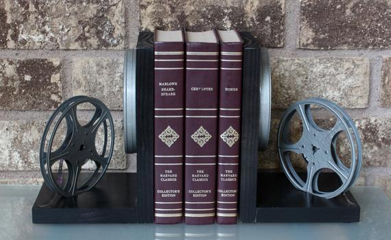 Original 8mm film, film reels, and film cans – modified into a pair of #bookends. Unique items with some signs of years of service.#Vintage #ecochic - Great Unique #Gift for the #HomeTheater March 22, 2019 at 05:45PM