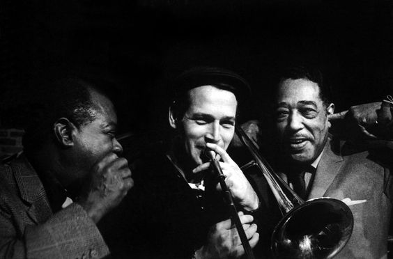 Louis Armstrong -Paul Newman &amp; Duke Ellington !!!!!! <br>http://pic.twitter.com/imMcY0N4eX
