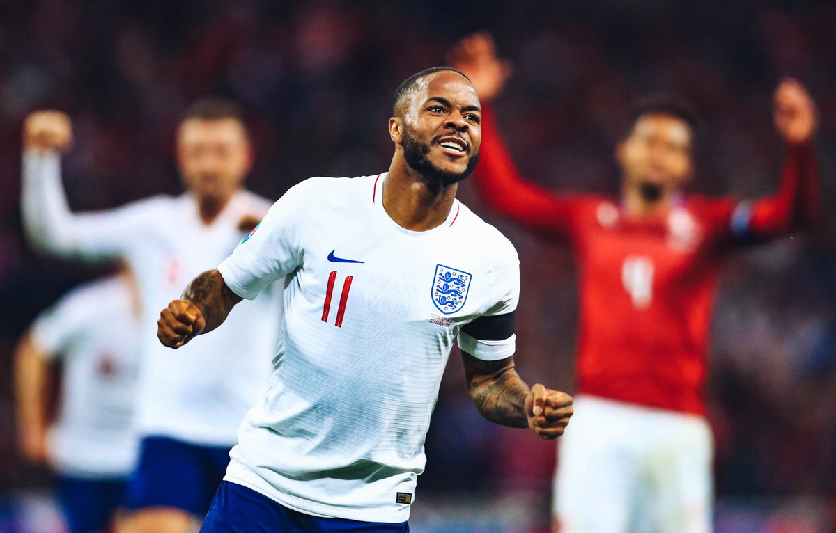 🏴 5-0 🇨🇿 EURO 2020 Qualifier  What a night for @sterling7 who netted a hat-trick for @england!  @kylewalker2 also played the 90 on a memorable night for the #ThreeLions