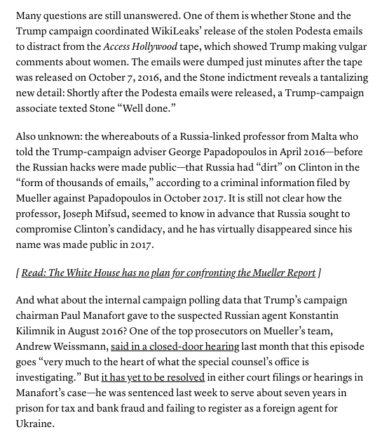 There is so much we still don't know....https://www.theatlantic.com/politics/archive/2019/03/questions-mueller-probe-raised-about-trump/585526/…