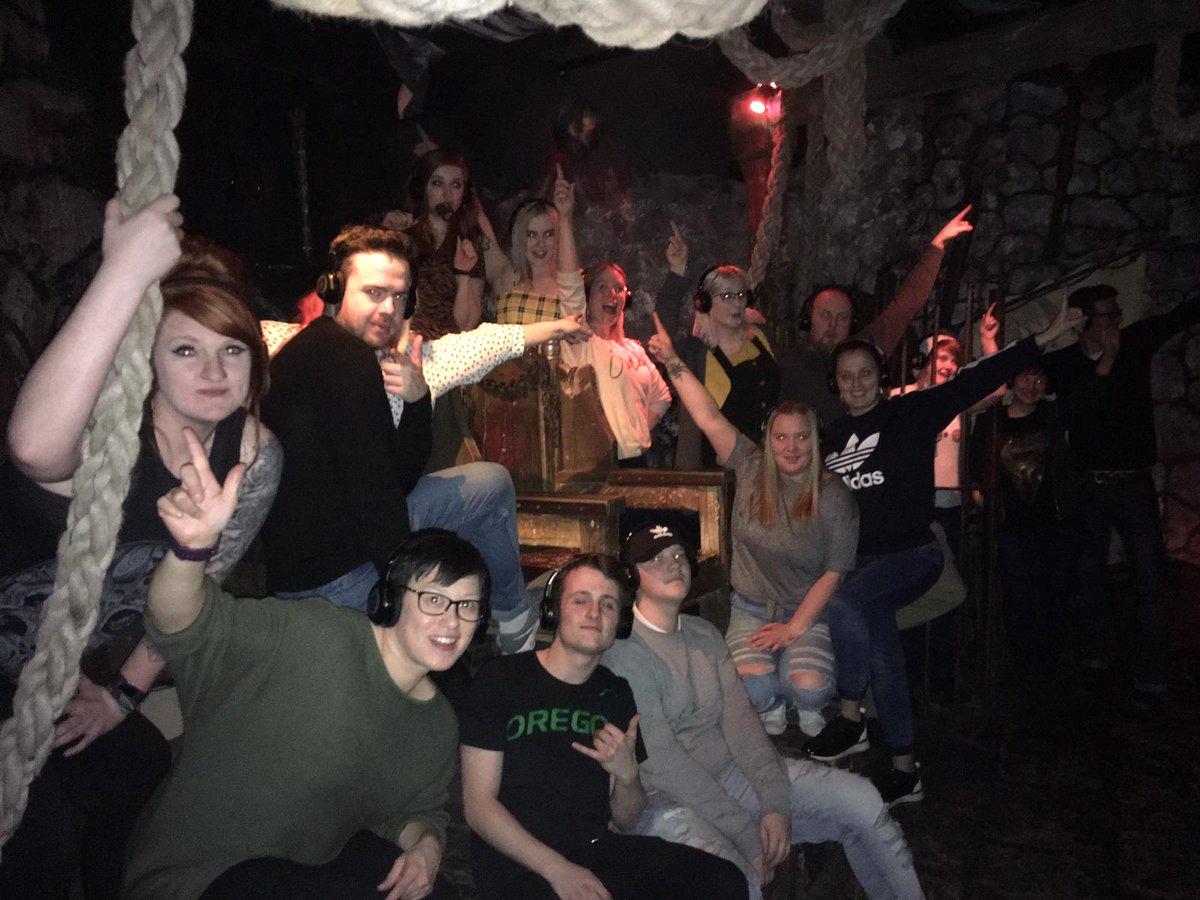 The Friday night 7pm tour at @EdinDungeon was horrifically awesome!!  #edinburgh #silentdisco #dungeons #tour #fun