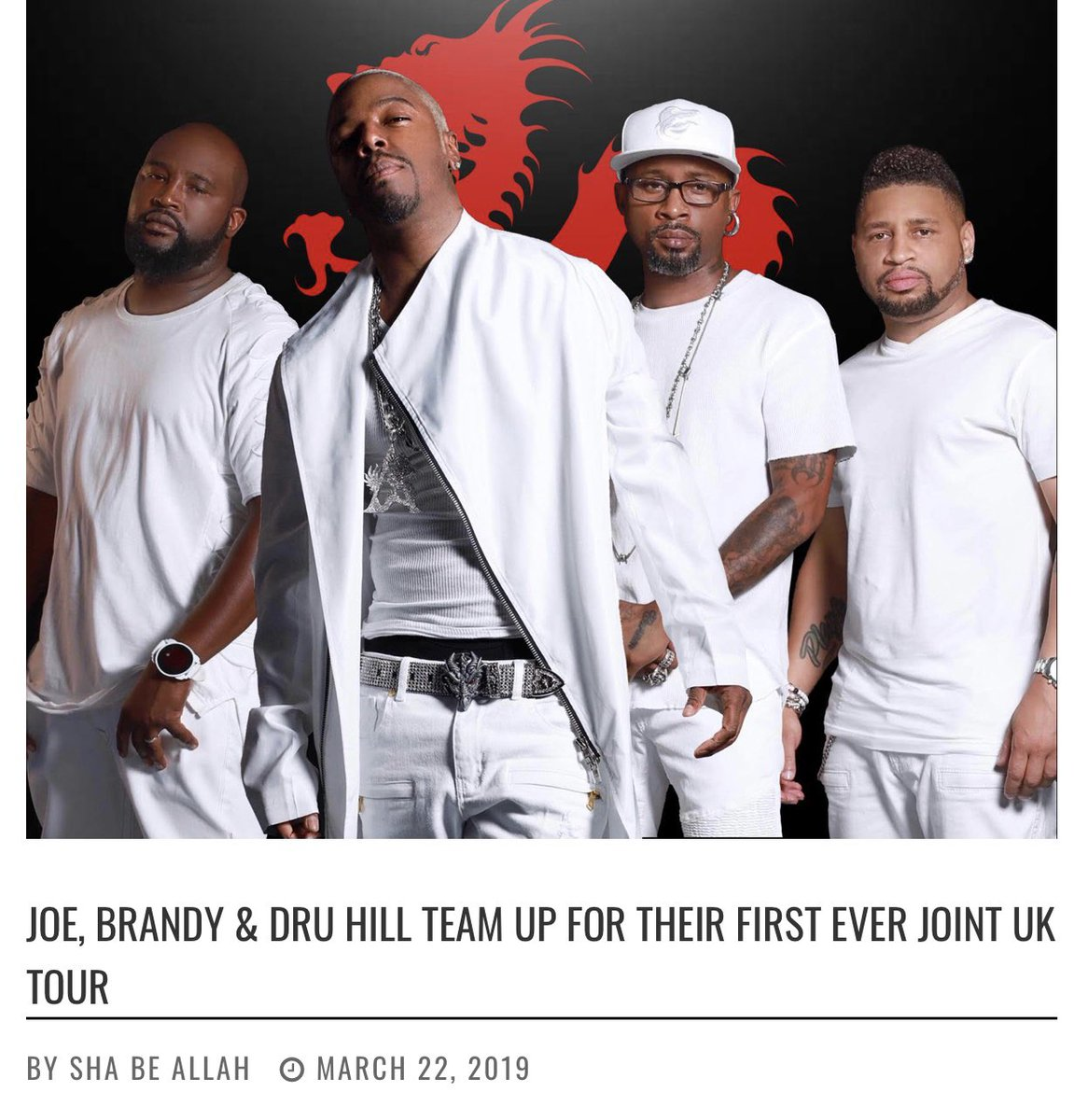 Joe, @4everBrandy @DruHill4Real Team Up for First Ever Joint UK Tour   Via @thesource   #joe #brandy #druhill #hiphop #randb #music #musicnews #tour #tournews #uk #unitedkingdom #thesource