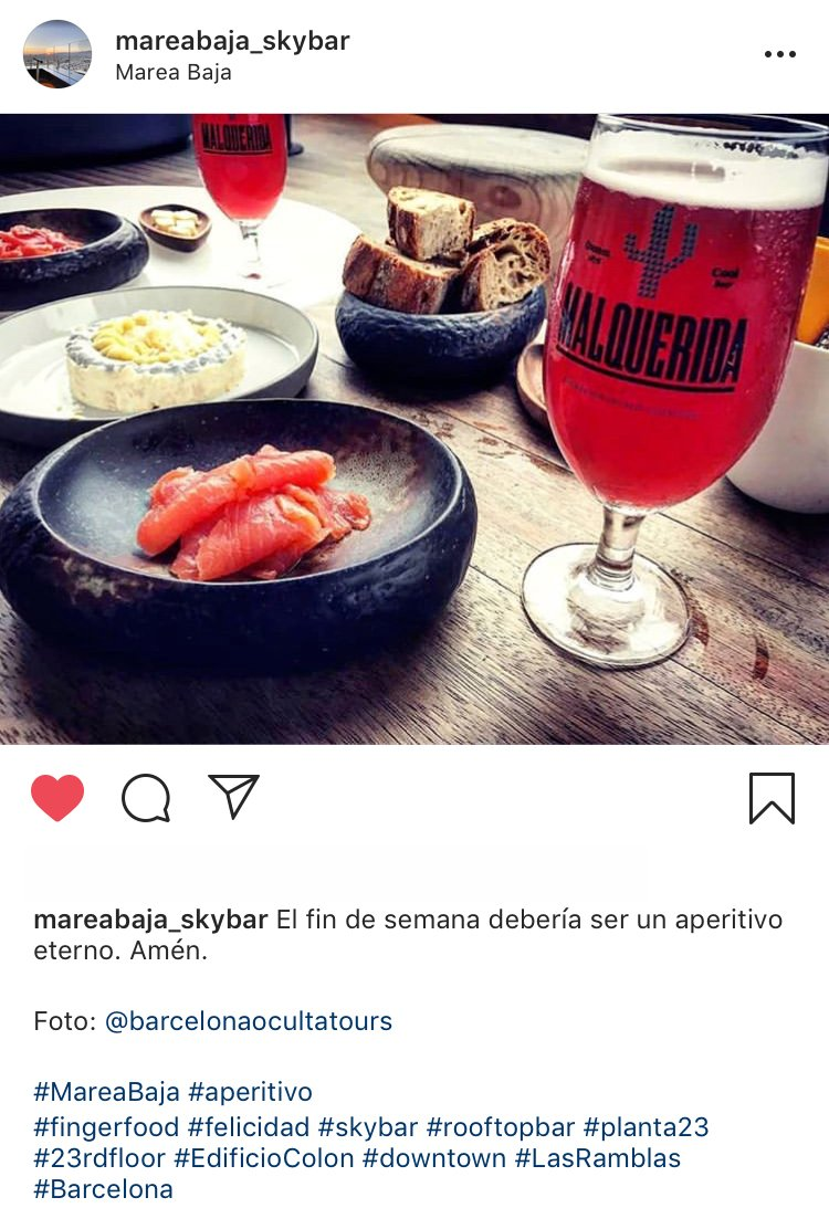 Thanks @MareaAlta_bcn. for choosing our photography and for your excellent customer service at our Barcelona Rooftop bars tour. http://www.barcelonaoculta.com  #barcelona #travelinspires #bcn #cocktails #beers #salmon #tour #excursion #Rooftop #cityscape #Views #vip #wanderlust #Travel